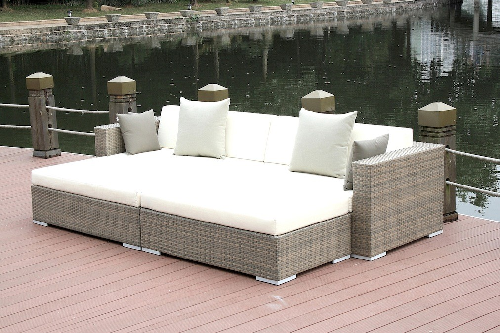 Gartenmobel rattan lounge grau for Lounge gartenmobel rattan