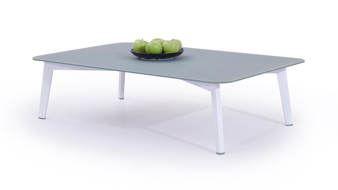 table en alu Diva 118 cm - blanc