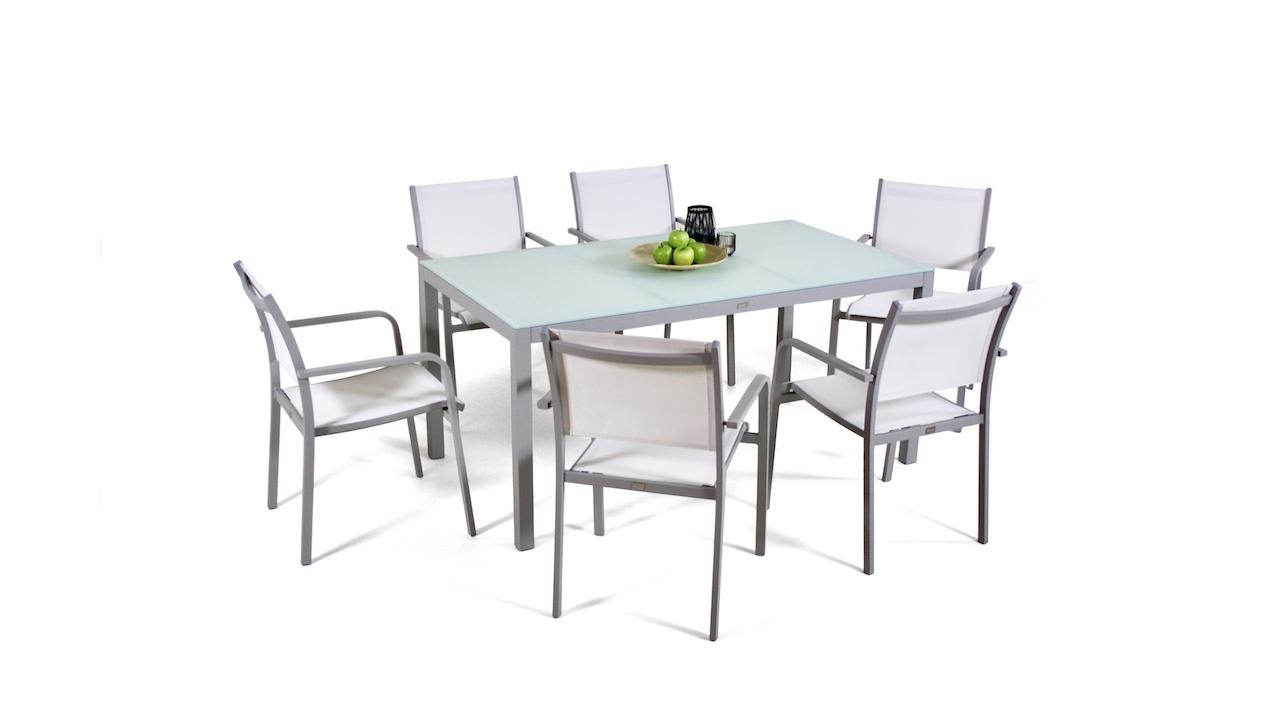 Aluminium Dining Group Set Brasilia 6 Living Zone Garden Furniture Living Zone