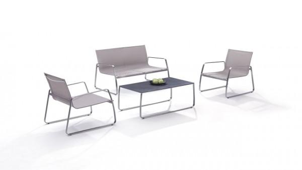 Edelstahl Sitzgruppe Balcony - beige