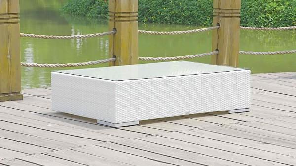 Polyrattan Cube Tisch 125 cm - weiß