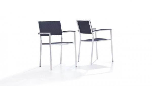 """Inox chaise """"Tex A"""" (2x) - noir"""