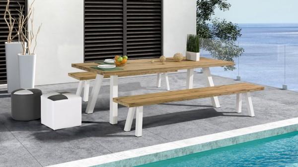 Alu Essgruppe Timber 6 - weiß