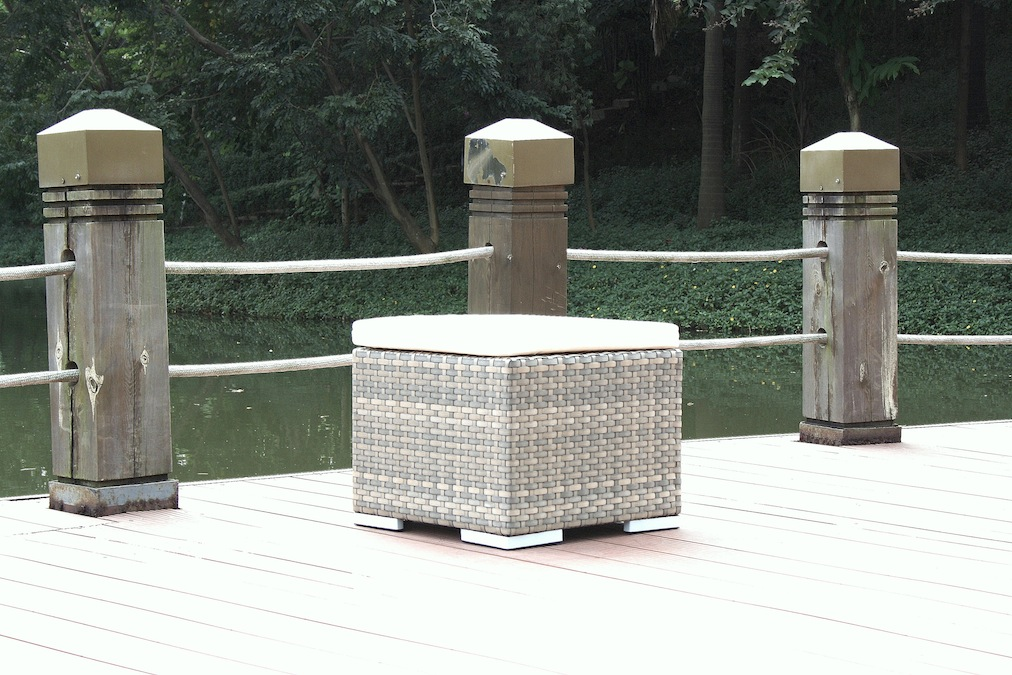 kl polyrattan gartentisch cube hocker tisch grau living zone gartenmoebel de. Black Bedroom Furniture Sets. Home Design Ideas