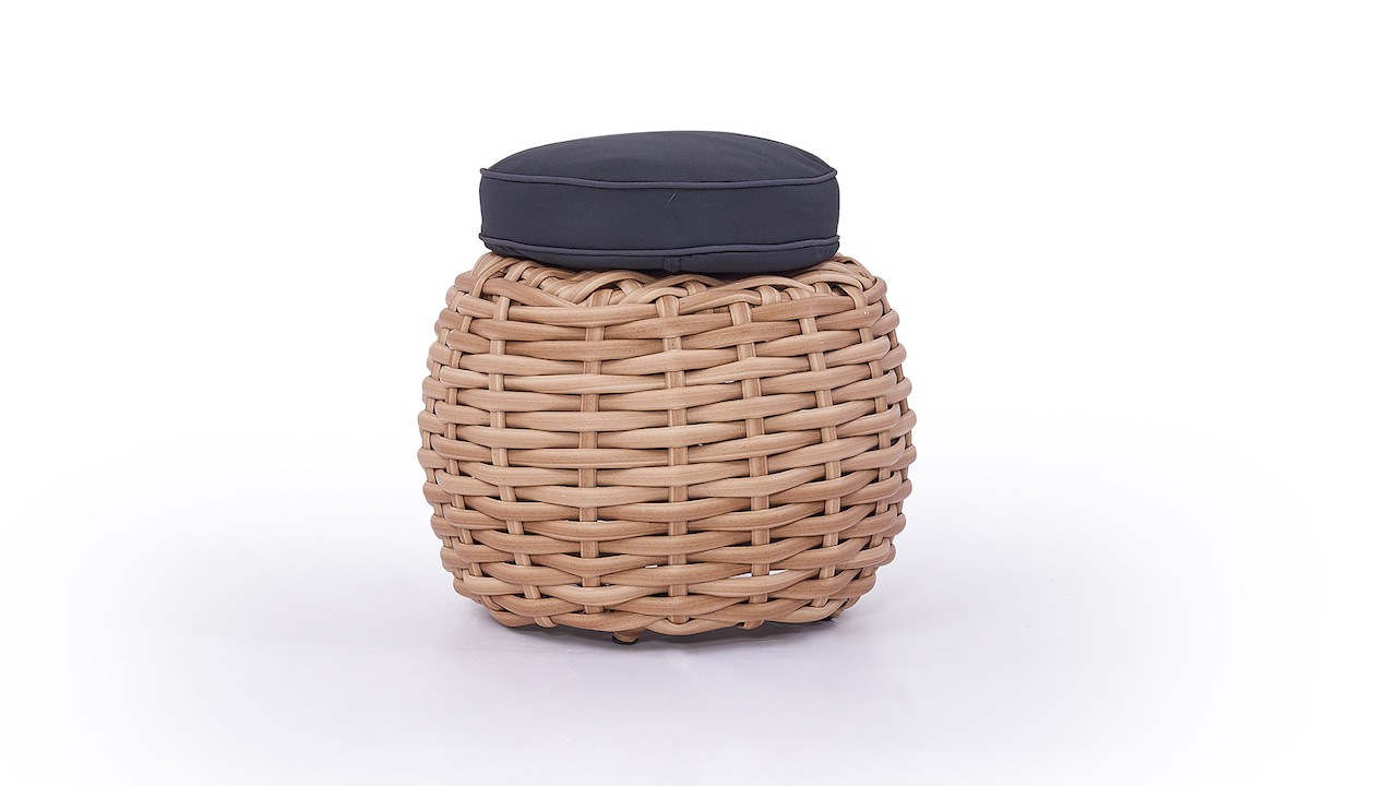 Polyrattan Hocker Molly - honig /ab 17.05.2019
