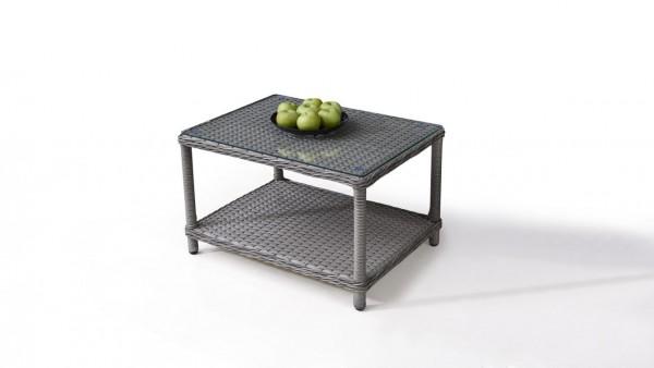 table en polyrotin classic - gris satiné