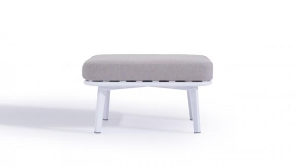 Aluminium stool diva 60 cm - white