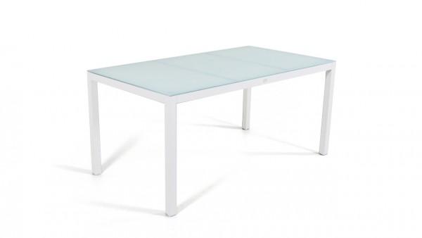 table à manger verre dépoli 160 cm