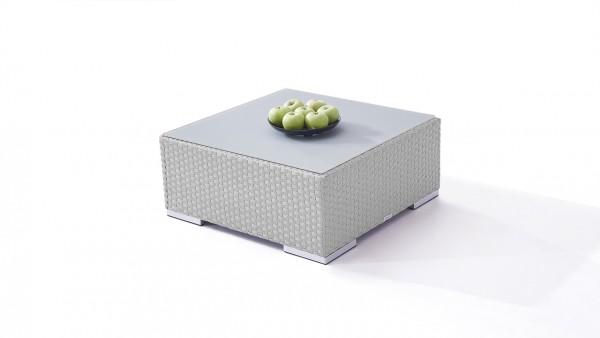 Polyrattan Cube Tisch 75 cm - grau satiniert