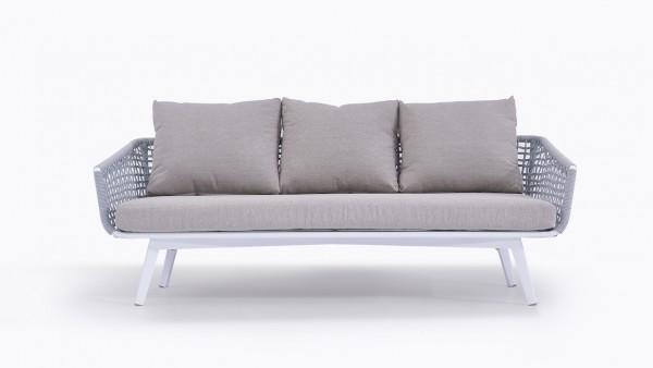 Rope Sofa Diva 196 cm - seidengrau