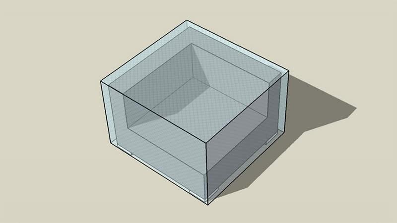 Abdeckplane Cube Abschlusssofa