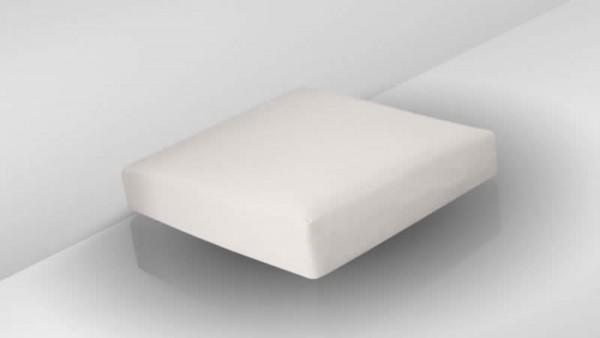 Polyrattan Cube Hocker Sitzauflage 50 cm x 50 cm - crema