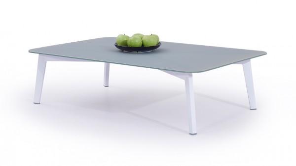 Alu Tisch Diva 118 cm - weiß