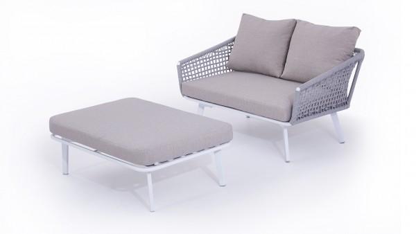 groupe de sièges en alu Castor - gris soie