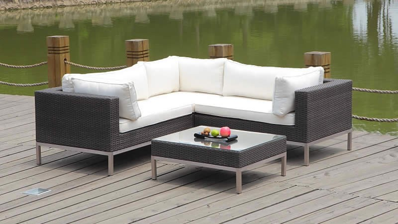 rattan ecksofa set monaco weiss living zone gartenmoebel de. Black Bedroom Furniture Sets. Home Design Ideas