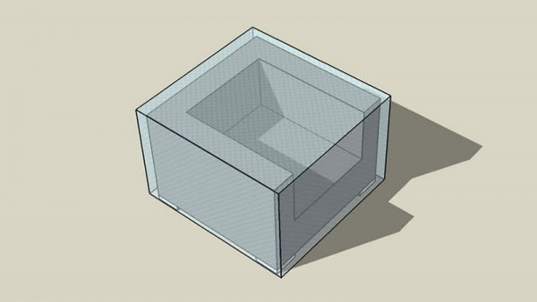 Covering sheet cube armchair