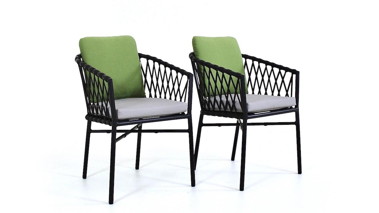 Rope Stuhl X, 2 Stück - schwarz