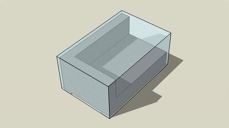 Abdeckplane gr. Cube Abschlusssofa