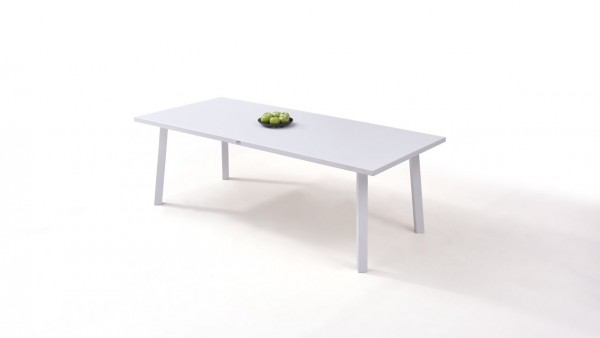 Alu Esstisch 220 cm - weiß