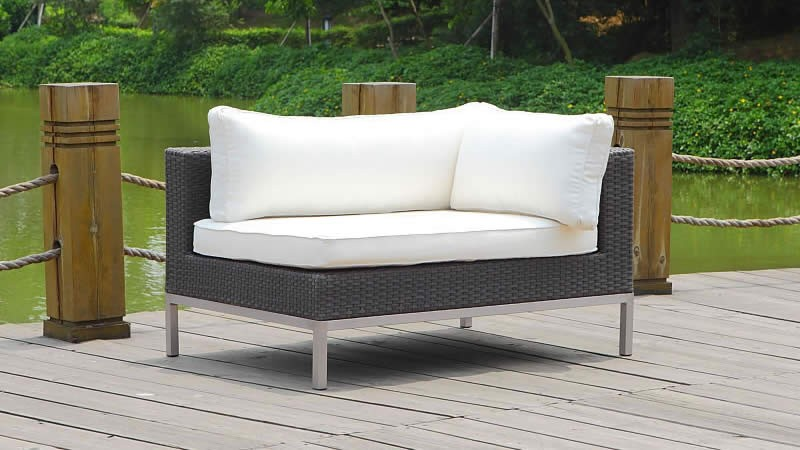 Gr silva polyrattan ecksofa r living zone for Ecksofa java