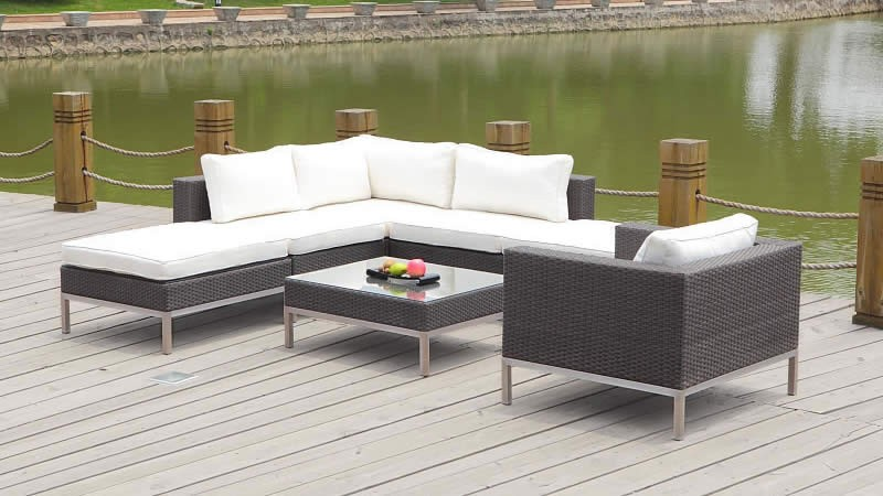 Polyrattan Lounge Big Dijon | Lounge Gartenmoebel | LIVING-ZONE