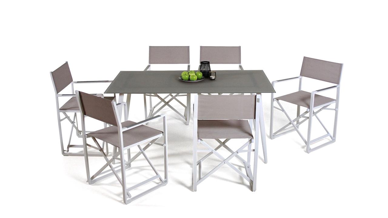 table à manger verre dépoli 160 cm, conique