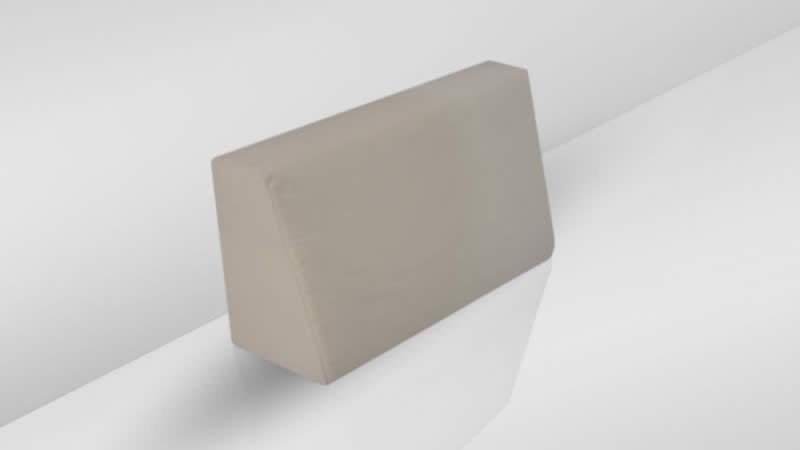 Cube Seitenauflage (l) - graubraun