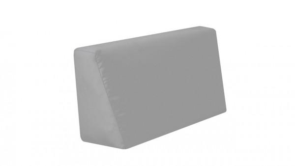 coussin latéral Cube, gauche - gris pierre