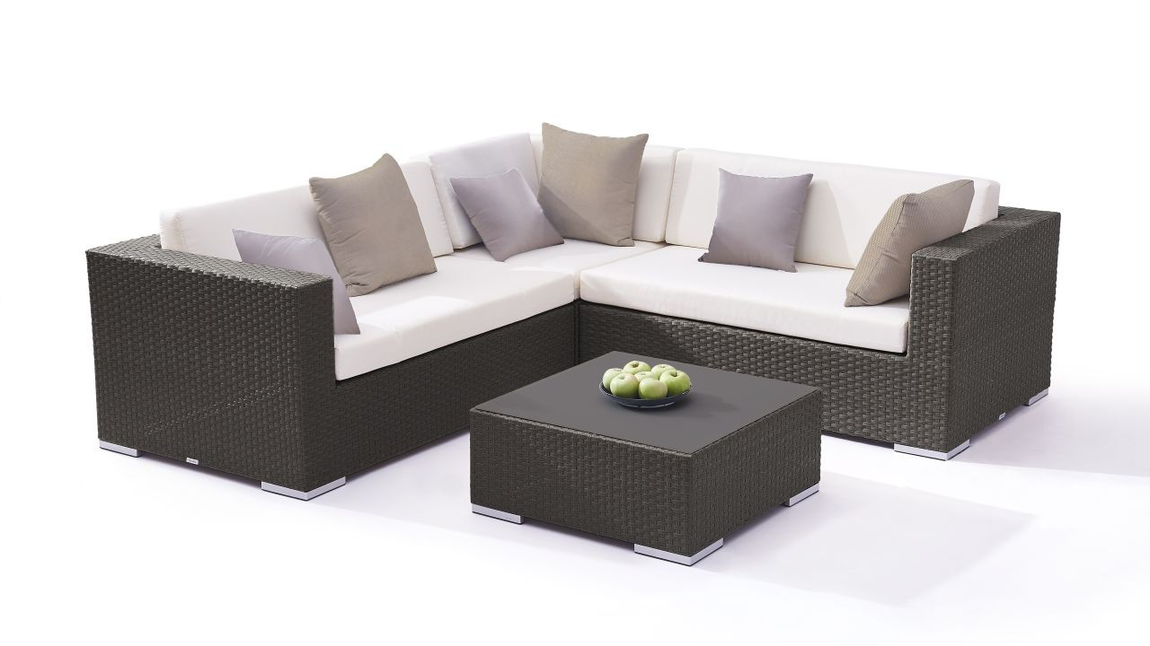 Poly rotin mobilier de jardin Lounge - Ben - anthra - Living Zone ...