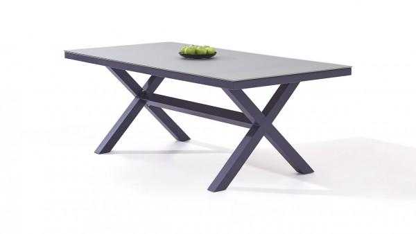 table à manger en alu Iks 200 cm - anthracite