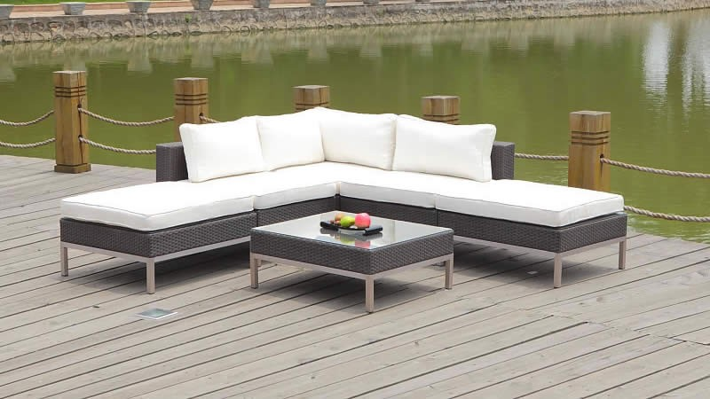 Poly rotin lounge en coin - Dijon - java - Living Zone mobilier de ...