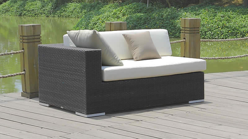 gr polyrattan sofa cube abschlusssofa l living zone. Black Bedroom Furniture Sets. Home Design Ideas