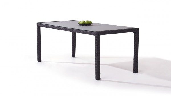 Polyrattan dining table 180 cm - anthracite