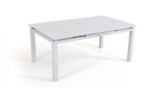 Alu Esstisch ausziehbar 180/240 cm - weiß