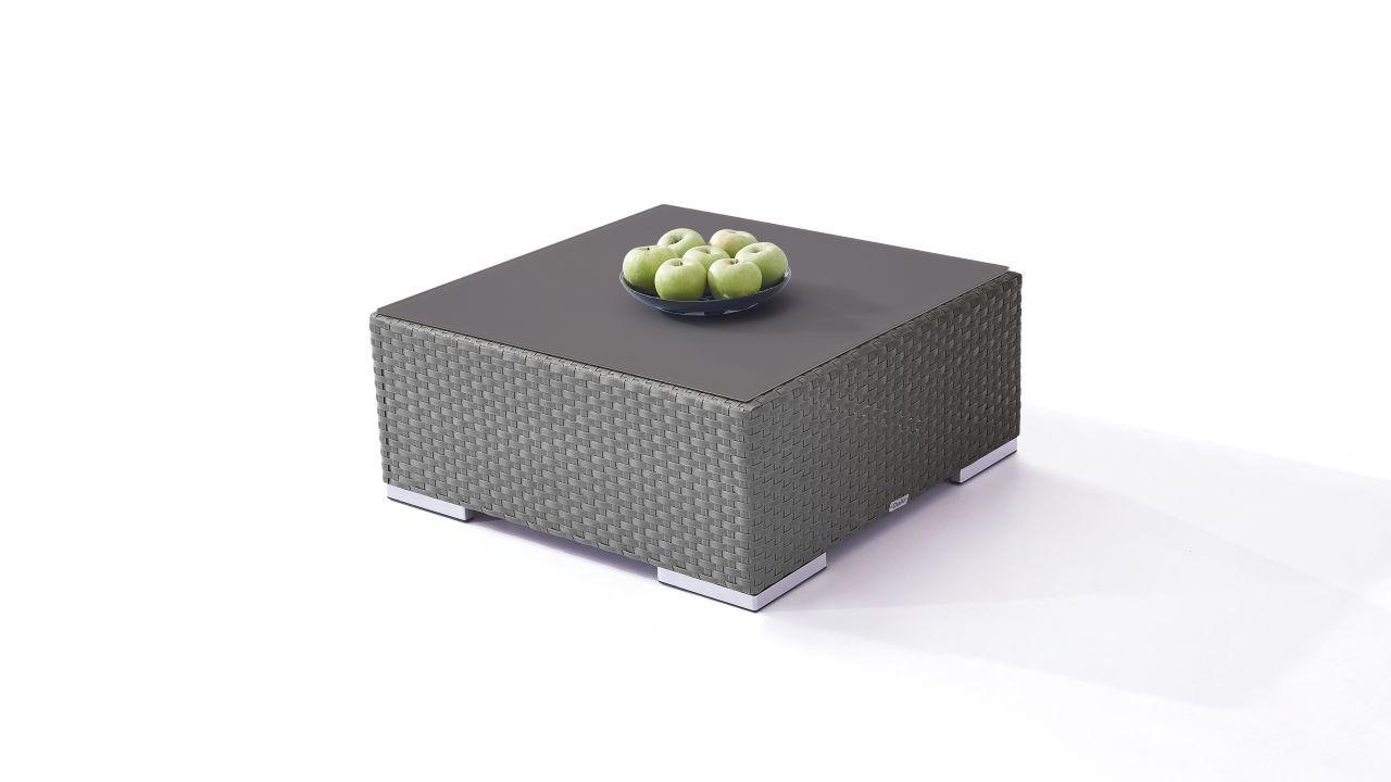 Polyrattan Cube Tisch 75 cm - anthrazit