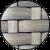 Cube Tisch 75 cm - grau