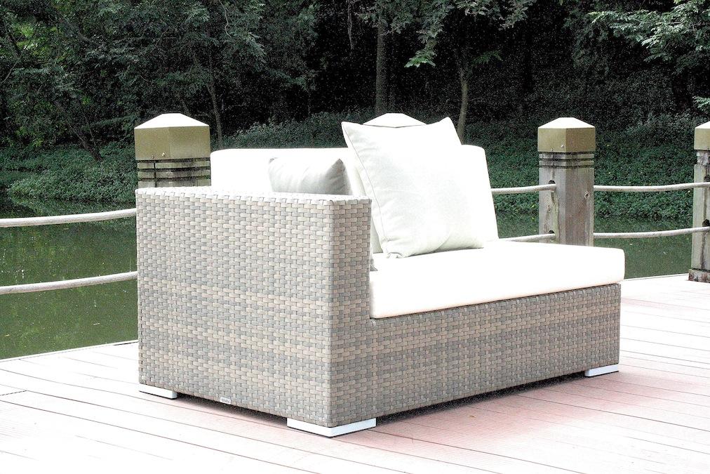 Top Polyrattan Cube Abschlusssofa 140 cm, links | Lounge Gartenmoebel DK88