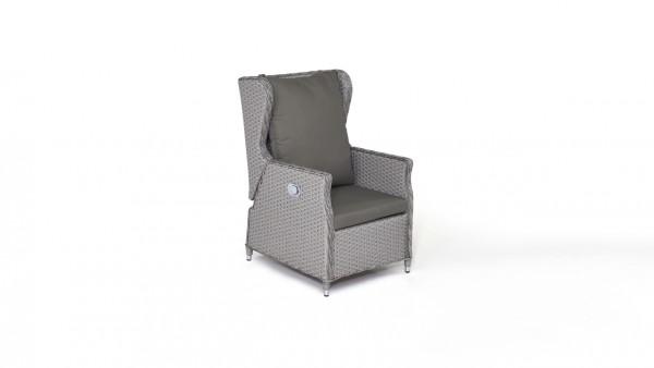 fauteuil en polyrotin Chesta - gris satiné
