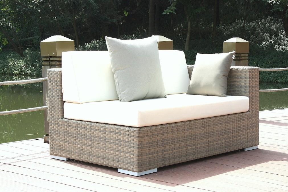 gr polyrattan sofa cube abschlusssofa r grau living zone gartenmoebel living zone. Black Bedroom Furniture Sets. Home Design Ideas