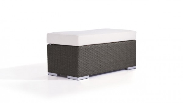 Polyrattan cube stool 45 cm - anthracite