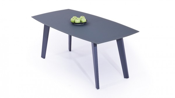 Aluminium dining table frosted glass 180 cm - anthracite