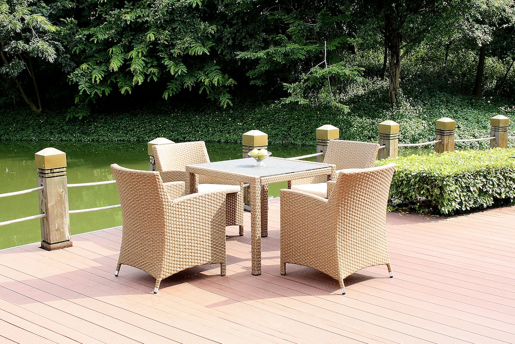 polyrattan essgruppe meetos 4 granitglas grau living zone gartenmoebel living zone. Black Bedroom Furniture Sets. Home Design Ideas