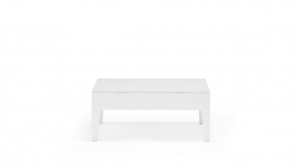 Alu Tisch Glas Alea - weiß
