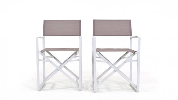 Alu Stuhl Hollywood, 2 Stück - weiß