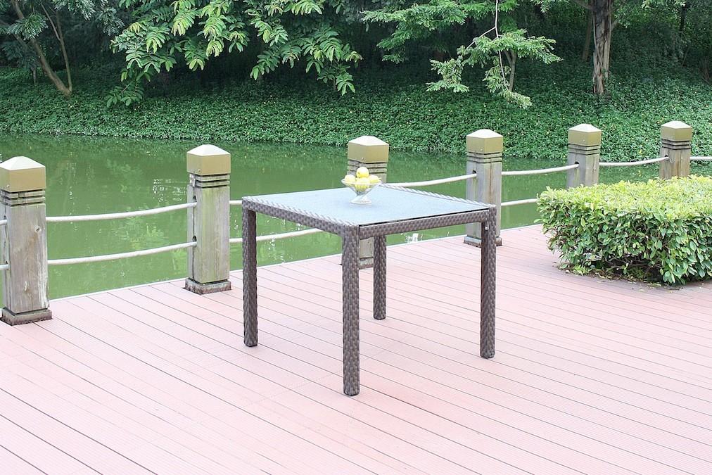 kl. Esstisch Granitglas - braun