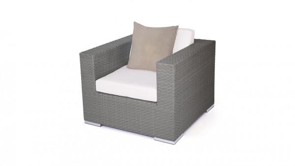 Polyrattan Cube Sessel - anthrazit