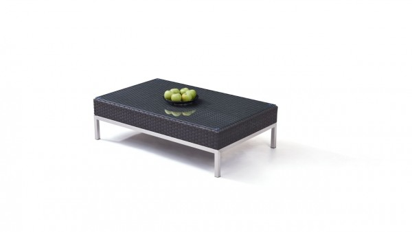 Polyrattan stainless steel silva table 120 cm - anthracite