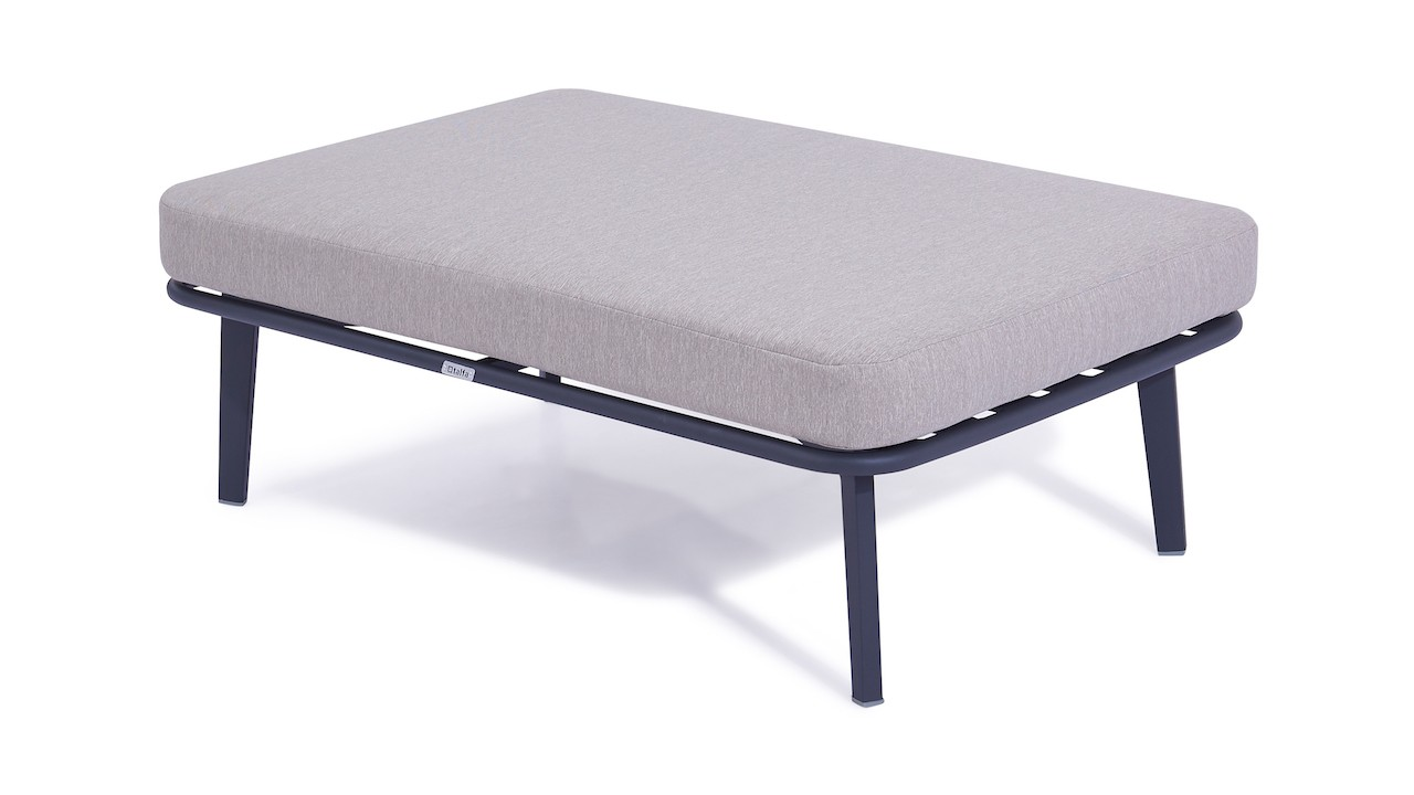 Alu Hocker Diva 118 cm - anthrazit