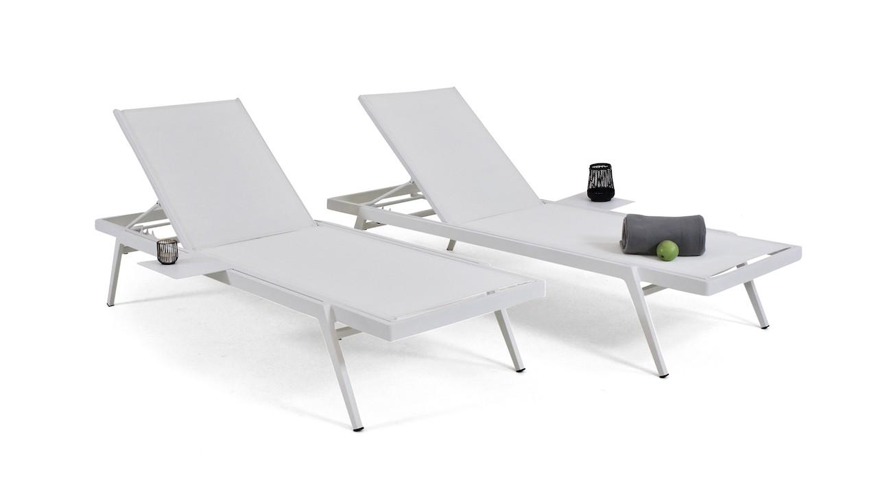 Alu mobilier de jardin bain de soleil Set (2x) - Alu bain de soleil ...