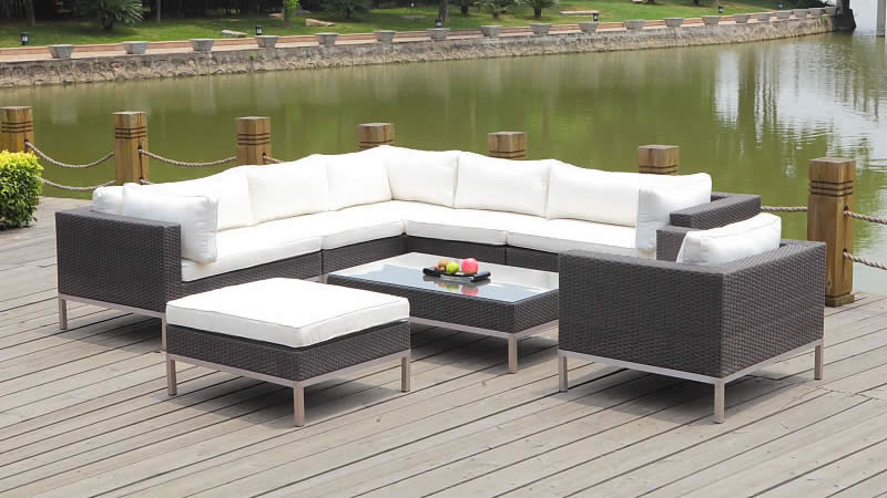 rattan gartenmoebel set big monaco living zone. Black Bedroom Furniture Sets. Home Design Ideas